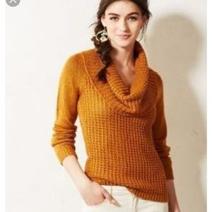 Anthropologie Angel Of north waffle cowl sweater